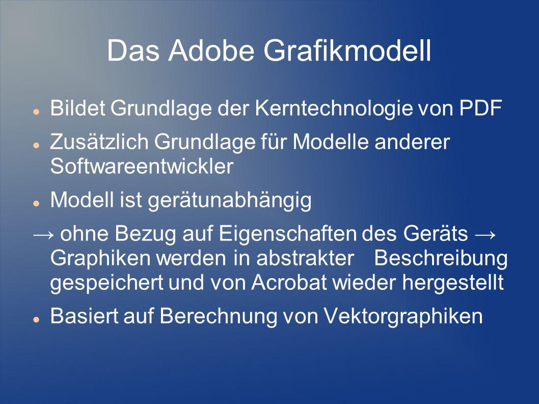 Das Adobe Grafikmodell