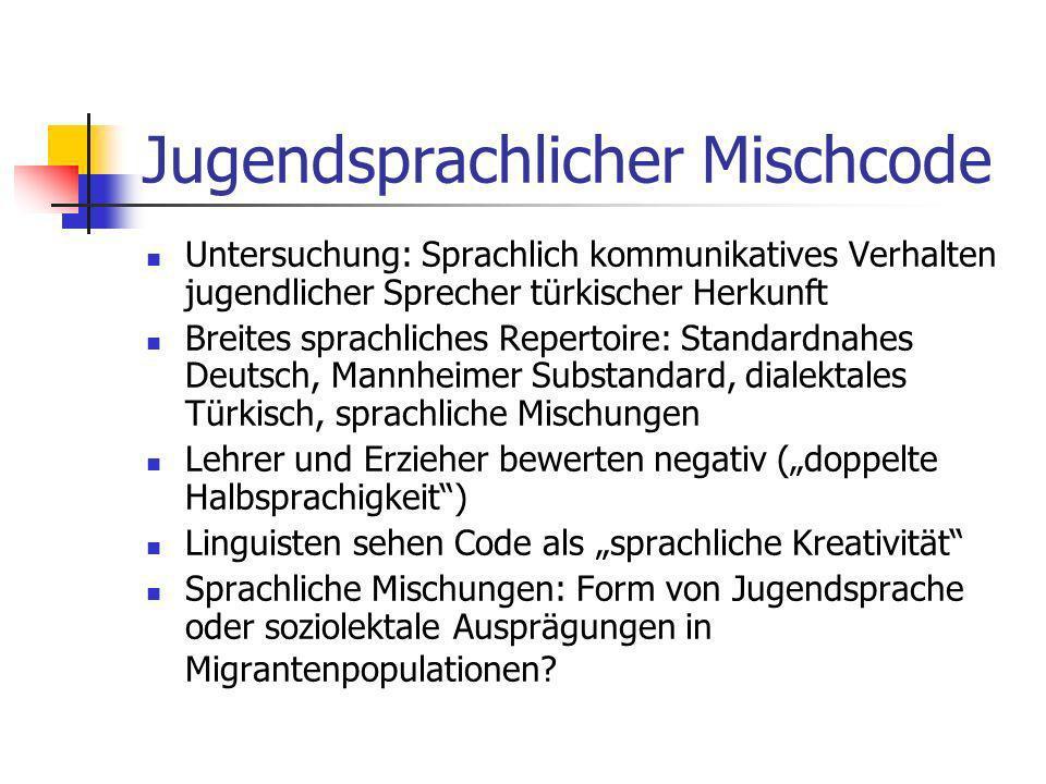 Jugendsprachlicher Mischcode