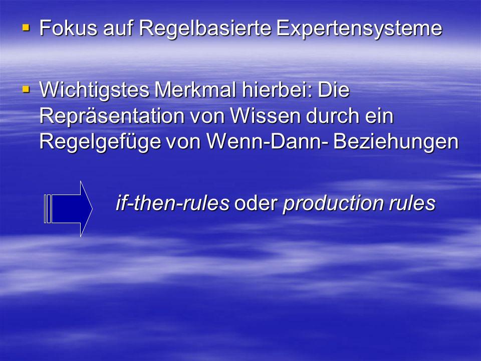 Fokus auf Regelbasierte Expertensysteme