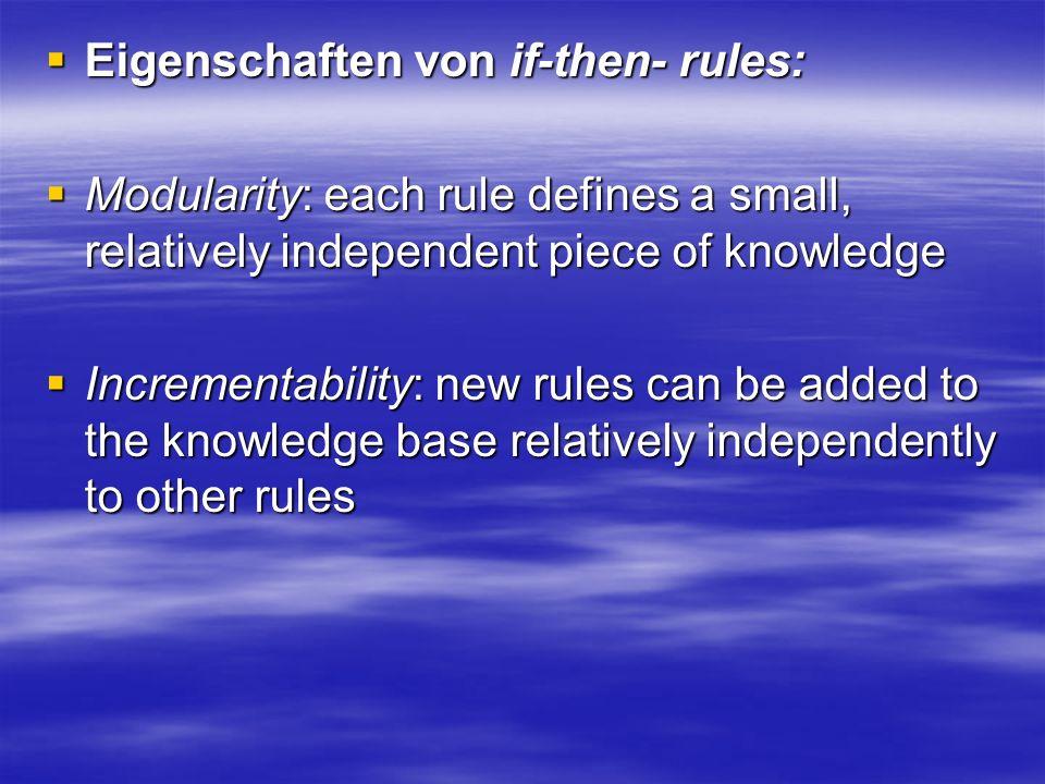 Eigenschaften von if-then- rules: