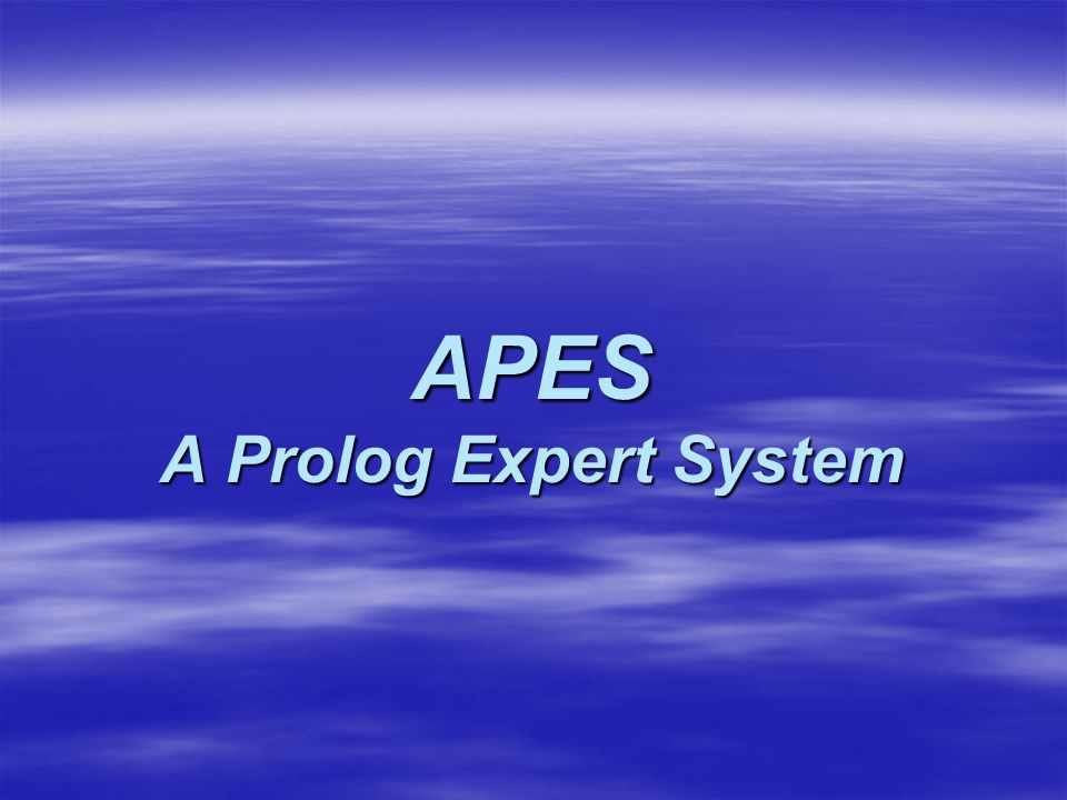 APES A Prolog Expert System