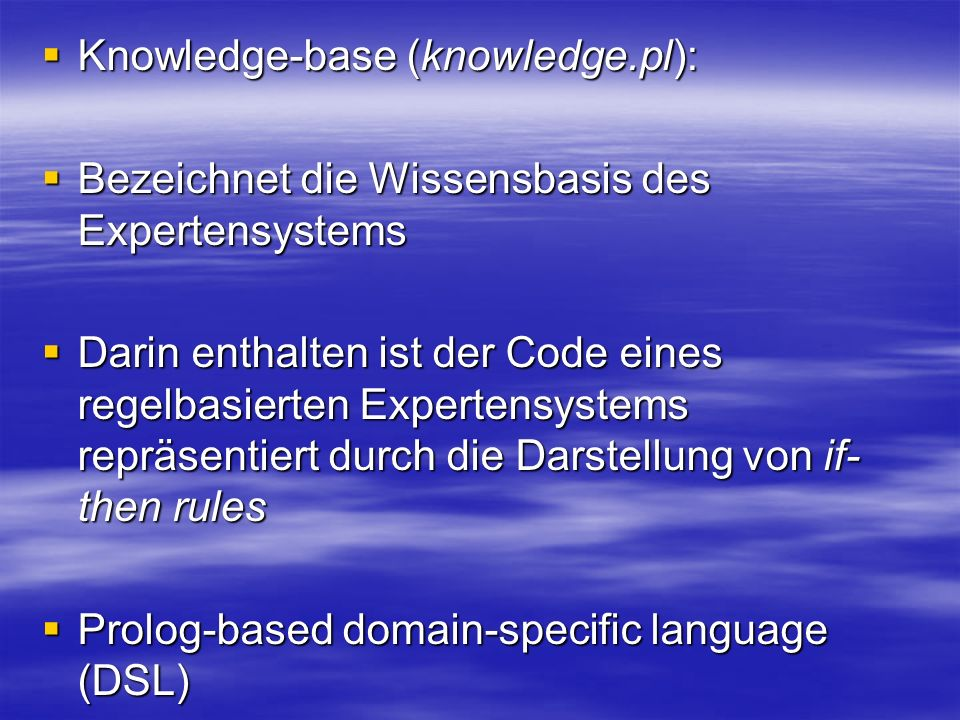 Knowledge-base (knowledge.pl):
