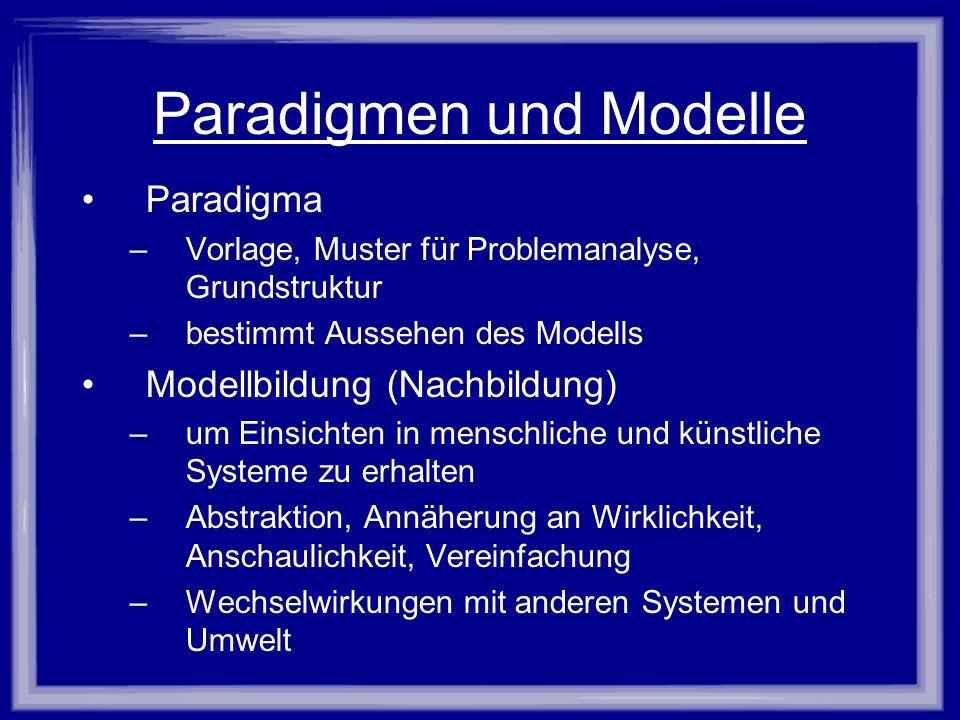Paradigmen und Modelle