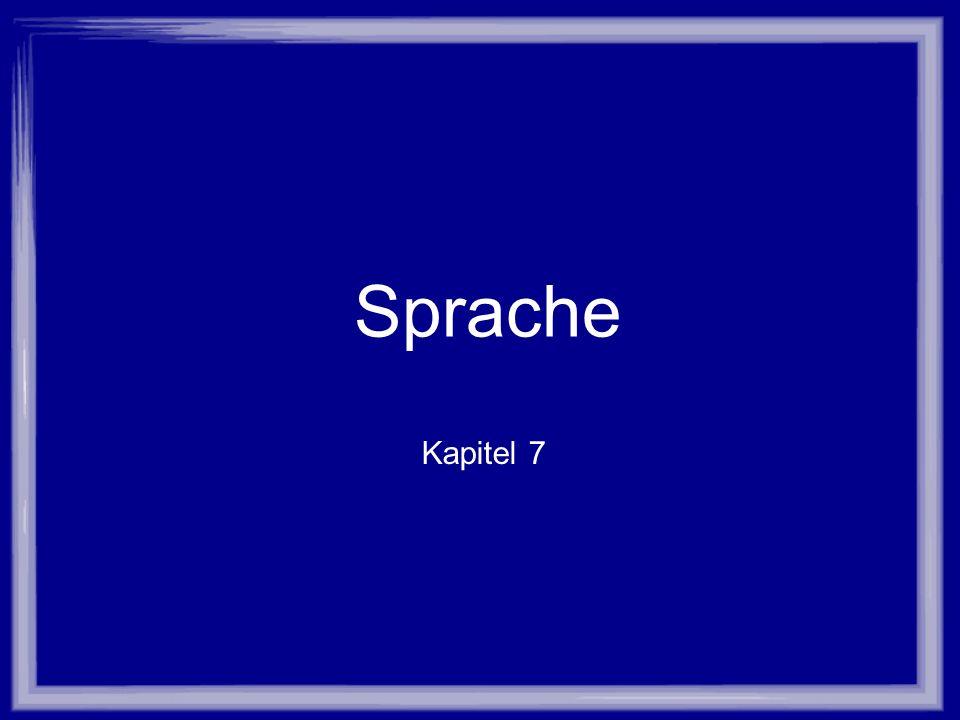 Sprache Kapitel 7