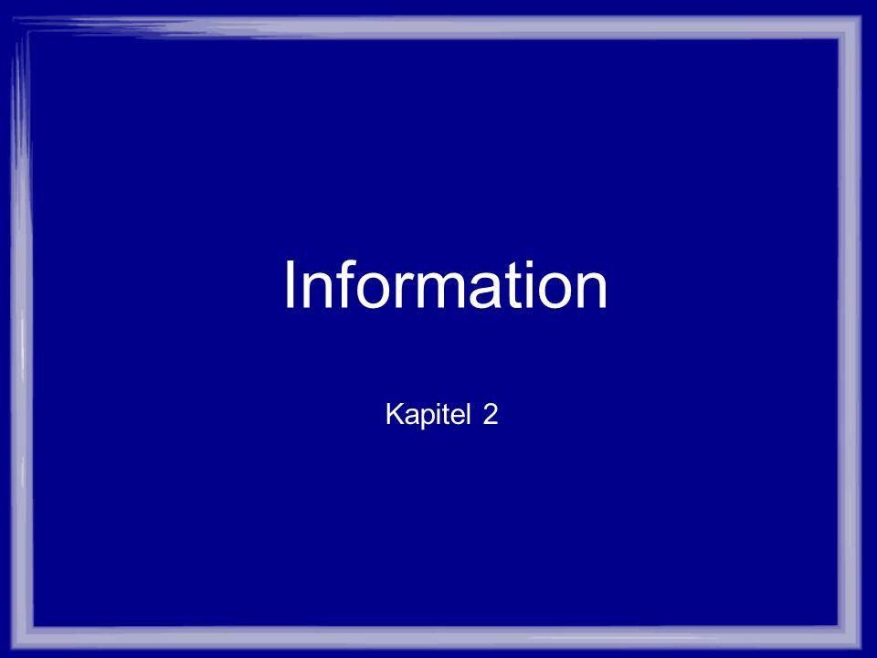 Information Kapitel 2
