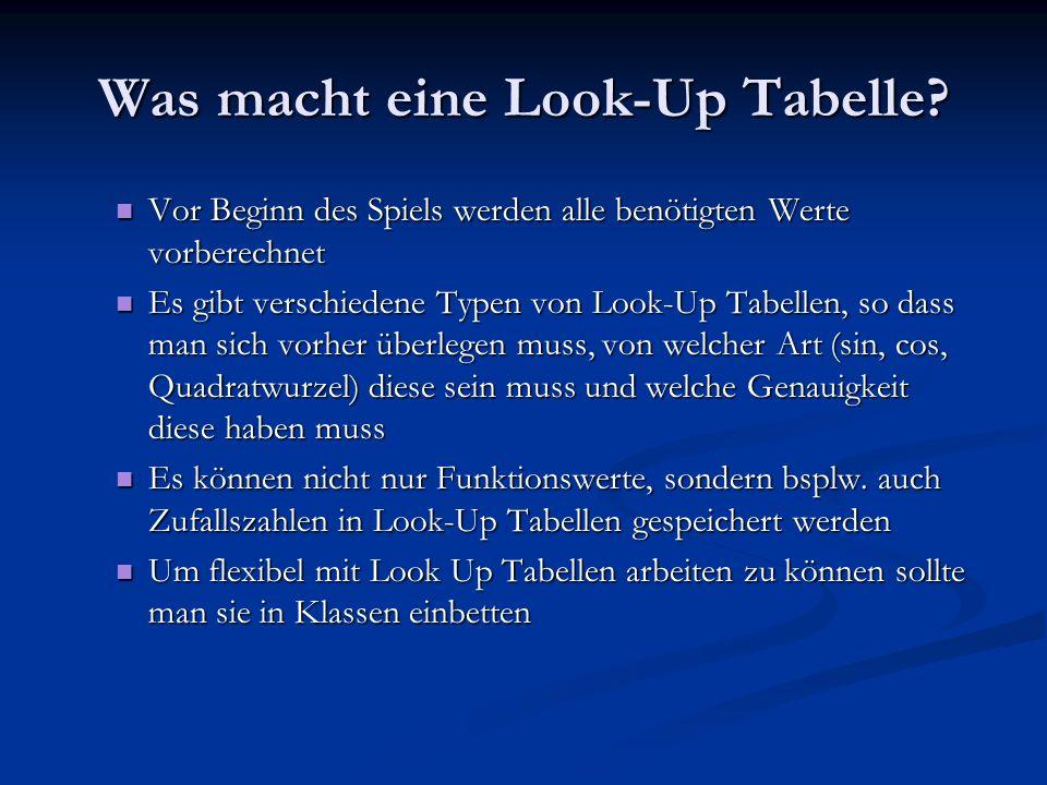 Was macht eine Look-Up Tabelle