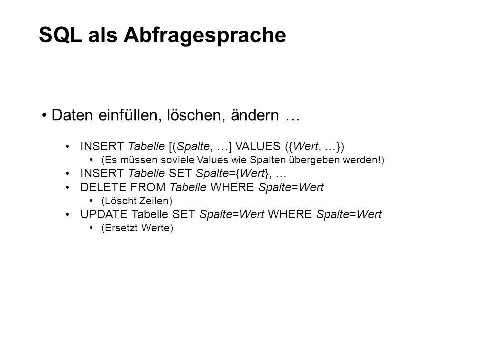 SQL als Abfragesprache