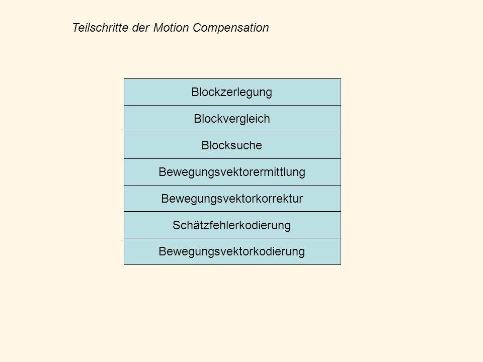 Teilschritte der Motion Compensation
