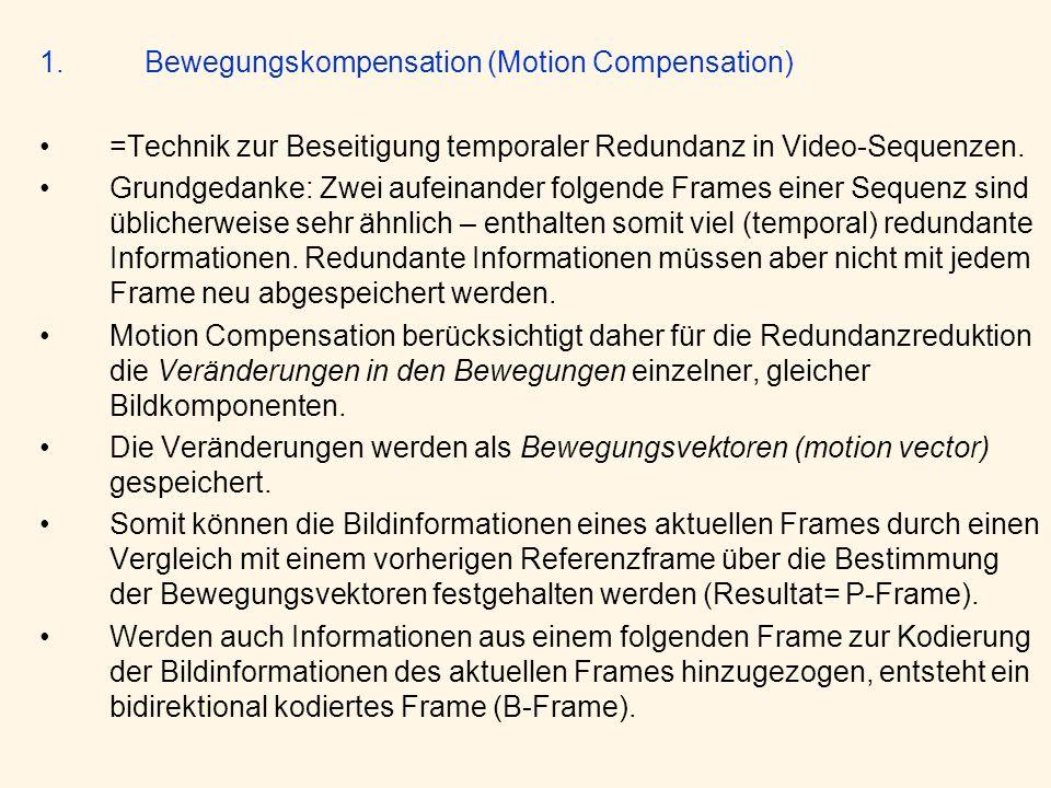 1. Bewegungskompensation (Motion Compensation)