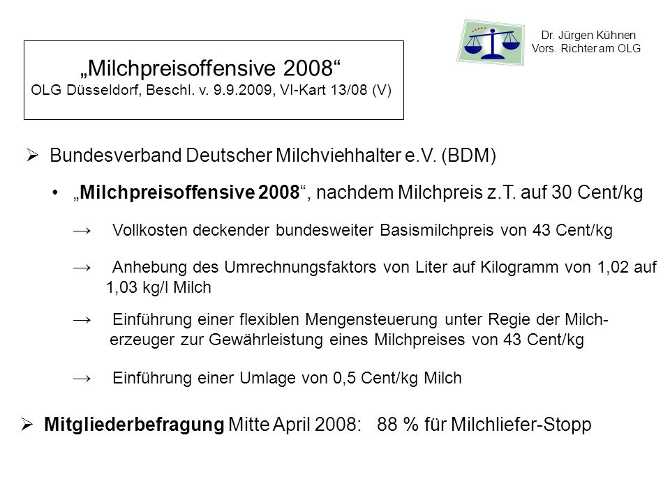 """""""Milchpreisoffensive 2008"""