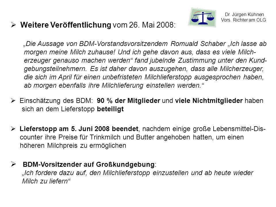 Weitere Veröffentlichung vom 26. Mai 2008: