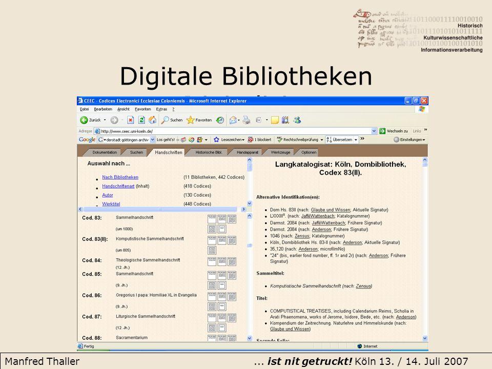 Digitale Bibliotheken Digitalisierung