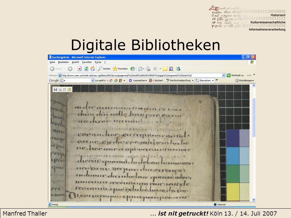 Digitale Bibliotheken
