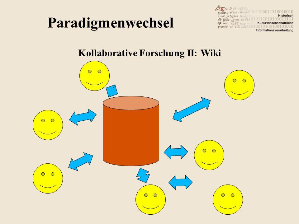 Kollaborative Forschung II: Wiki