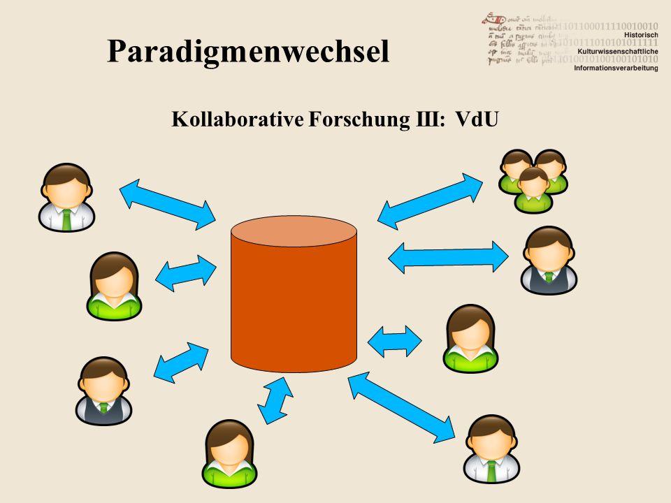 Kollaborative Forschung III: VdU
