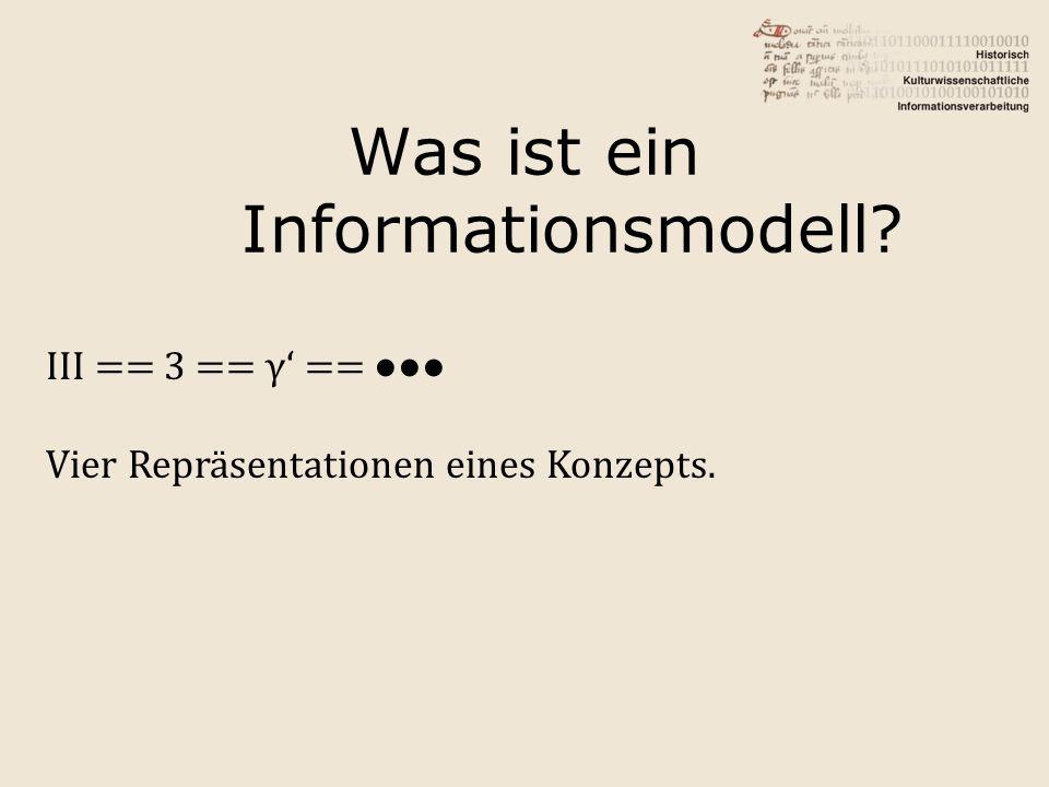 Was ist ein Informationsmodell
