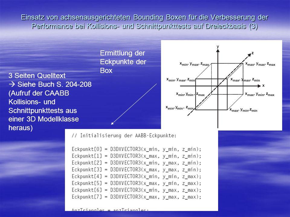 Einsatz von achsenausgerichteten Bounding Boxen für die Verbesserung der Performance bei Kollisions- und Schnittpunkttests auf Dreieckbasis (3)