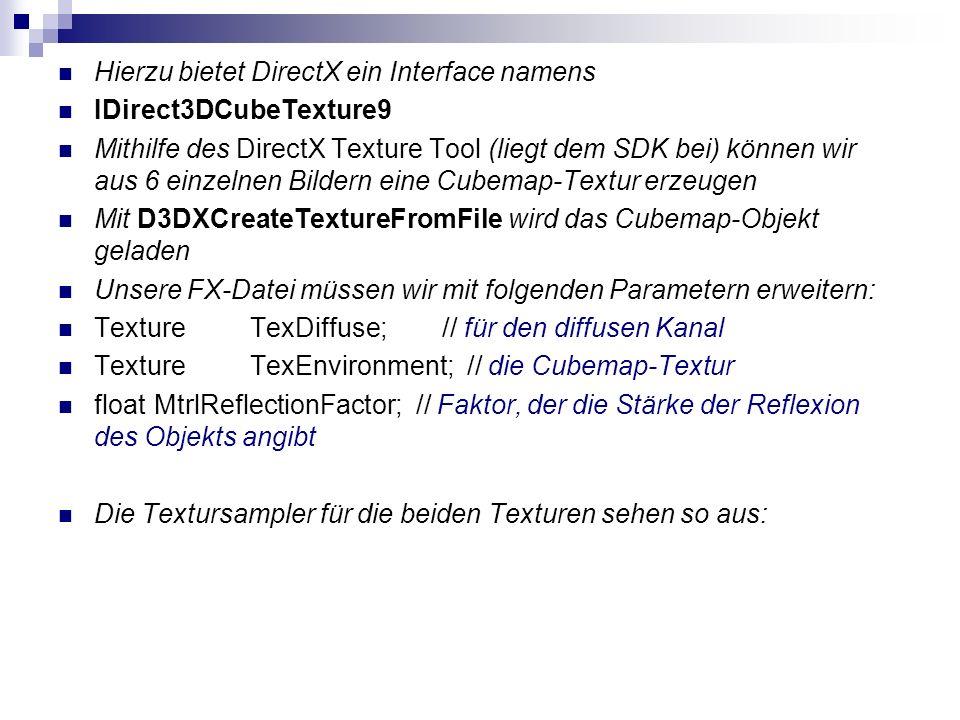 Hierzu bietet DirectX ein Interface namens