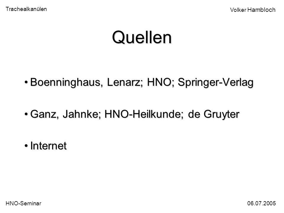 Quellen Boenninghaus, Lenarz; HNO; Springer-Verlag
