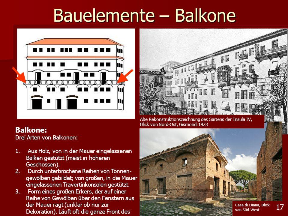 Bauelemente – Balkone Balkone: 17 Drei Arten von Balkonen: