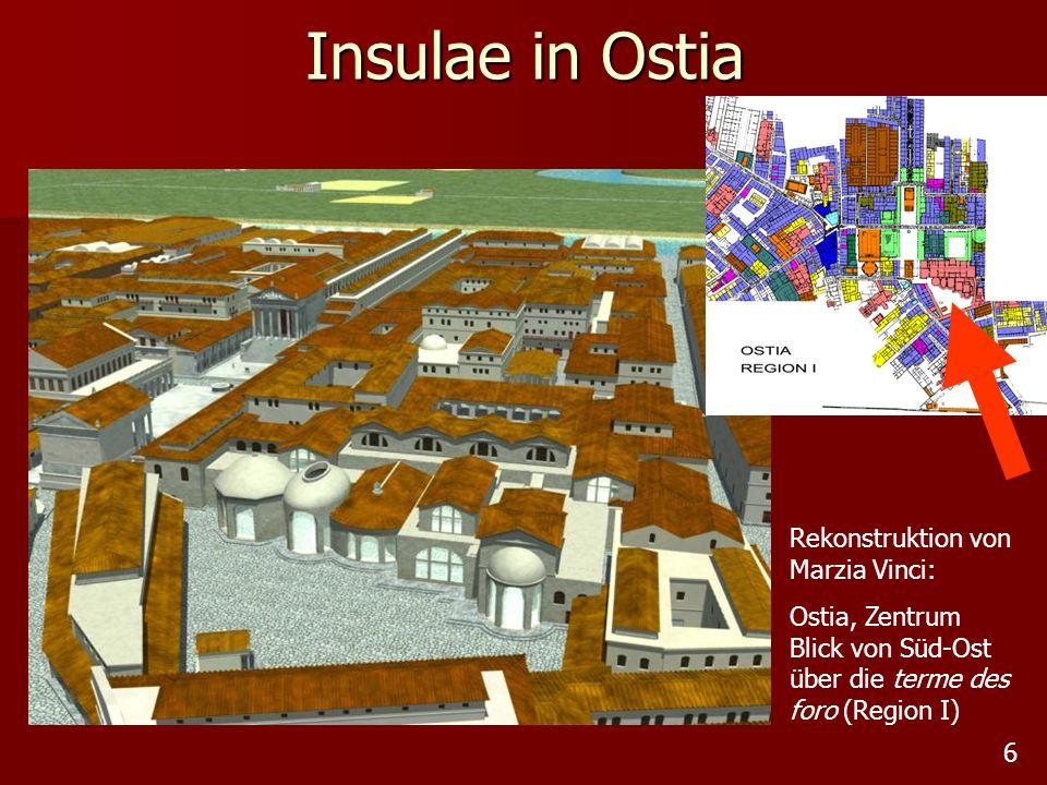 Insulae in Ostia Rekonstruktion von Marzia Vinci: