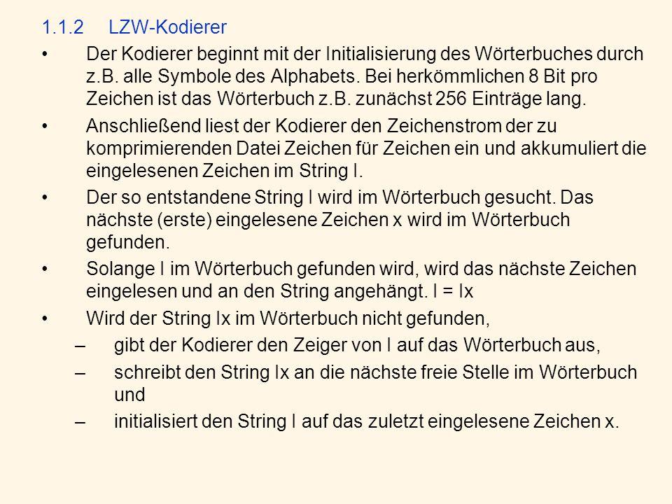 1.1.2 LZW-Kodierer
