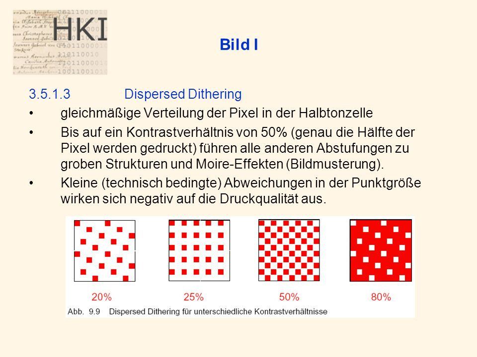 Bild I 3.5.1.3 Dispersed Dithering