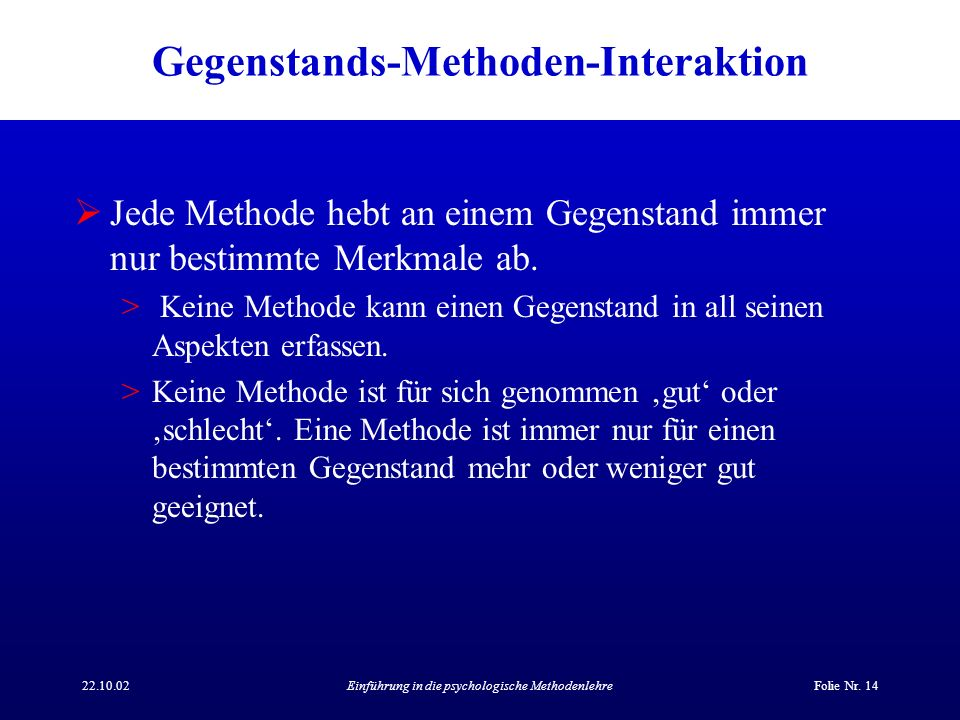 Gegenstands-Methoden-Interaktion