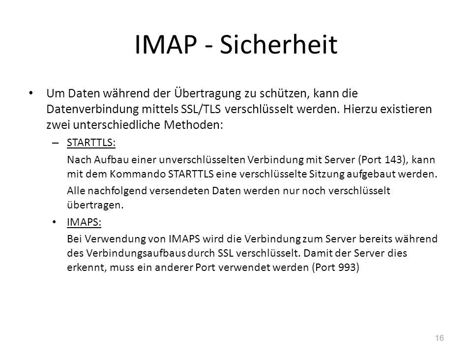 IMAP - Sicherheit