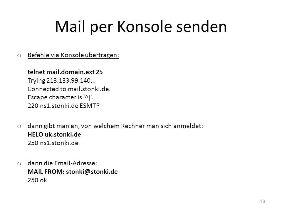Mail per Konsole senden