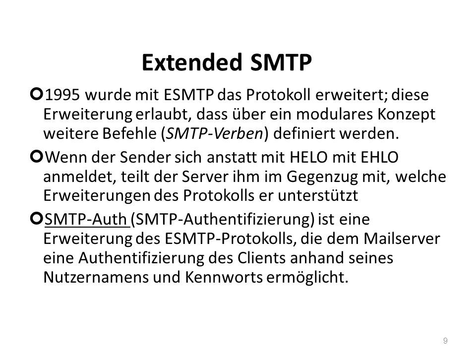 Extended SMTP