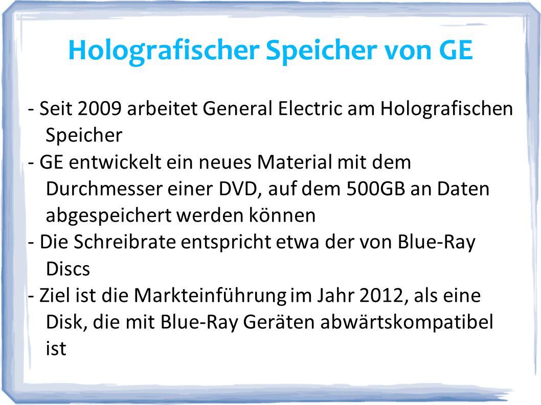 Holografischer Speicher von GE