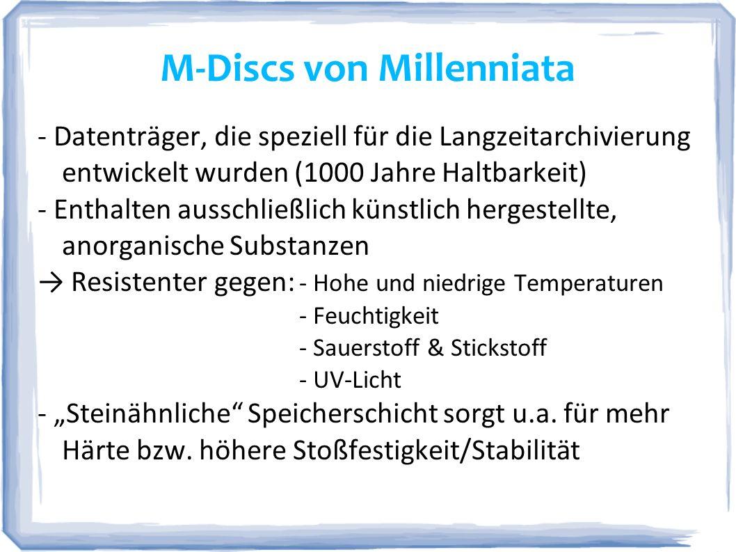M-Discs von Millenniata