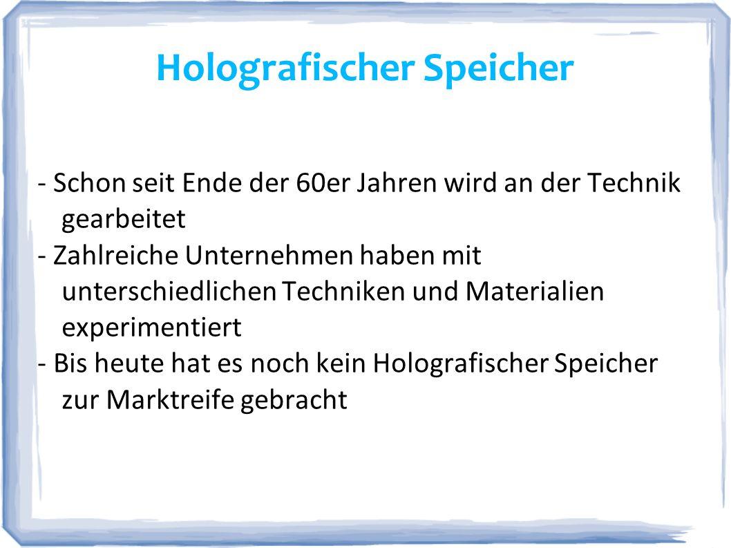 Holografischer Speicher