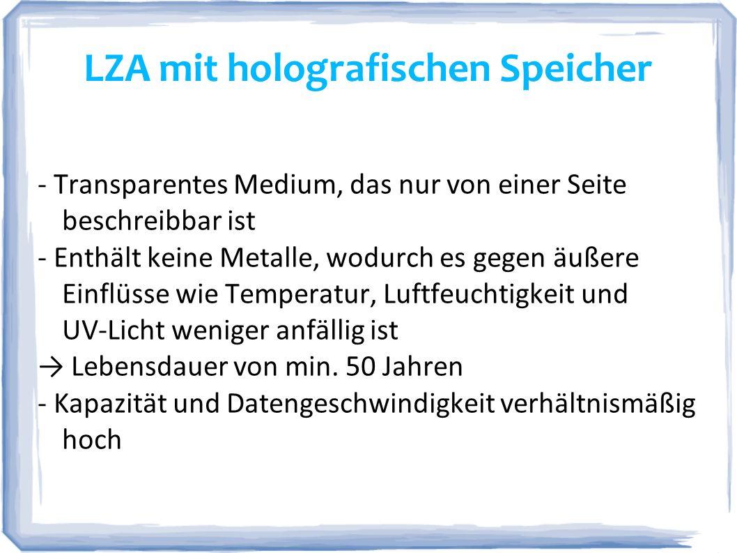 LZA mit holografischen Speicher