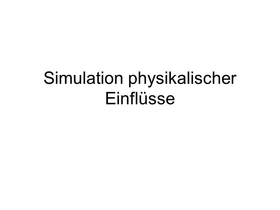 Simulation physikalischer Einflüsse
