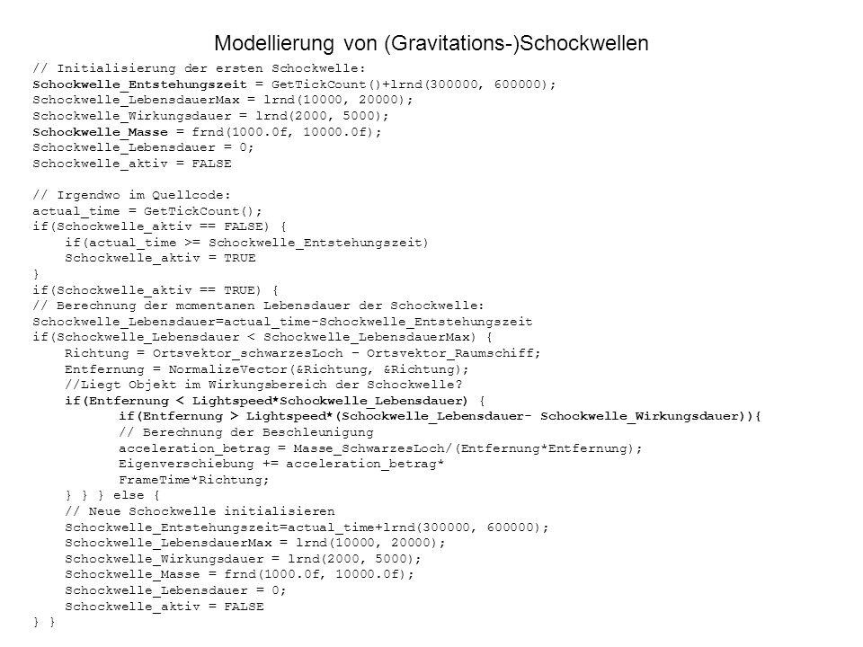 Modellierung von (Gravitations-)Schockwellen