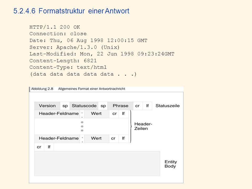 5.2.4.6 Formatstruktur einer Antwort