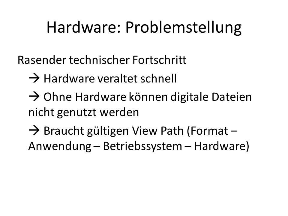 Hardware: Problemstellung