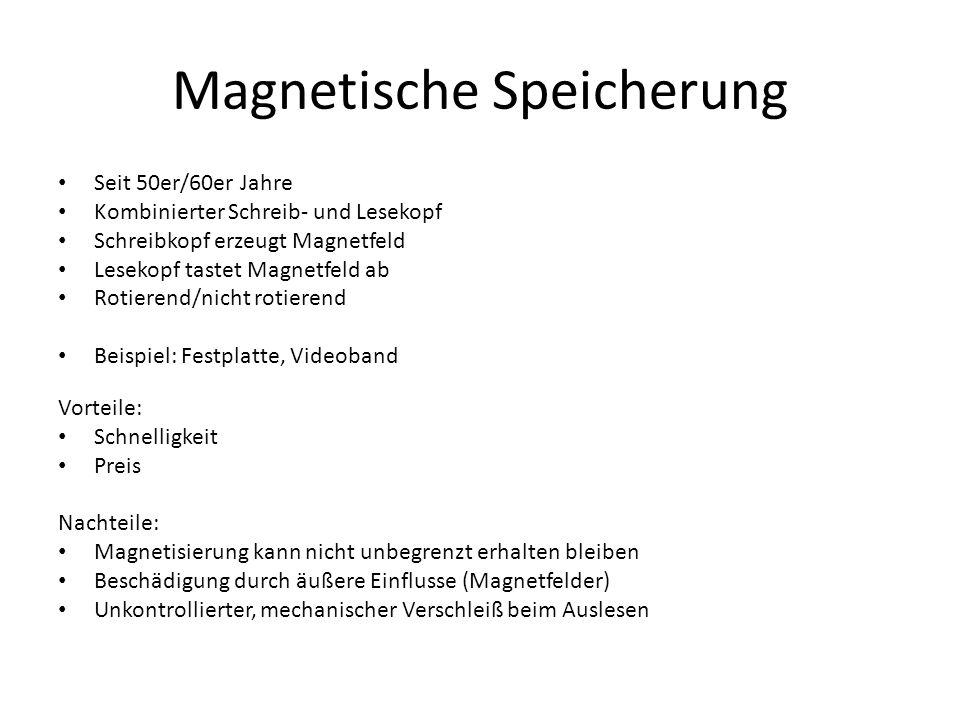 Magnetische Speicherung