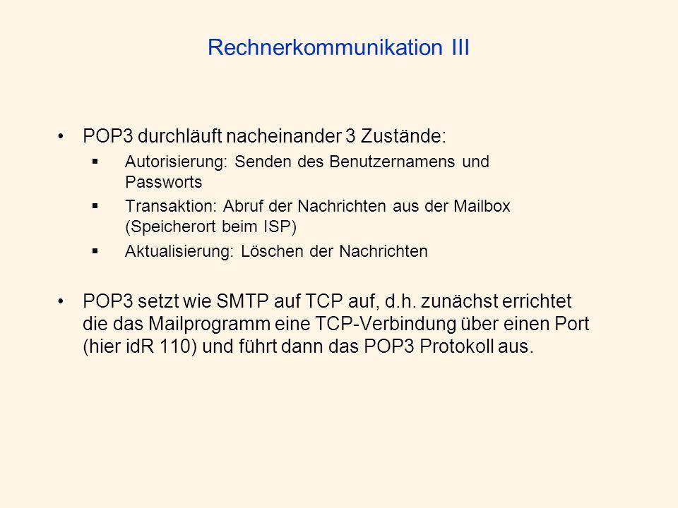 Rechnerkommunikation III
