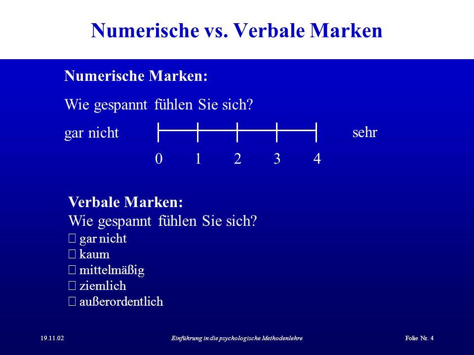 Numerische vs. Verbale Marken