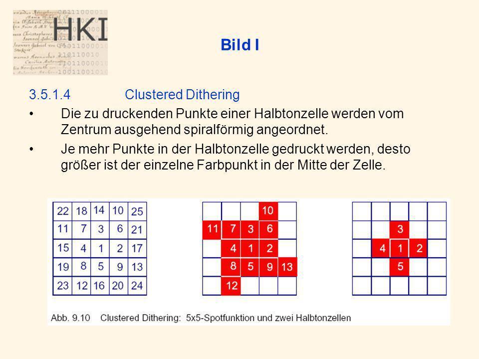 Bild I 3.5.1.4 Clustered Dithering