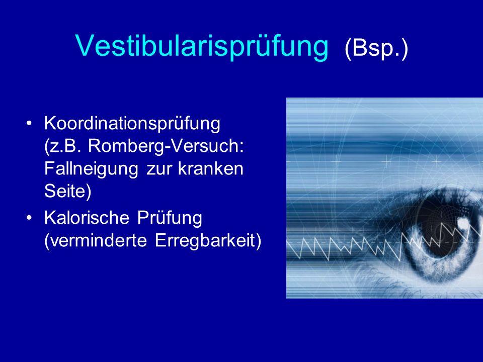 Vestibularisprüfung (Bsp.)