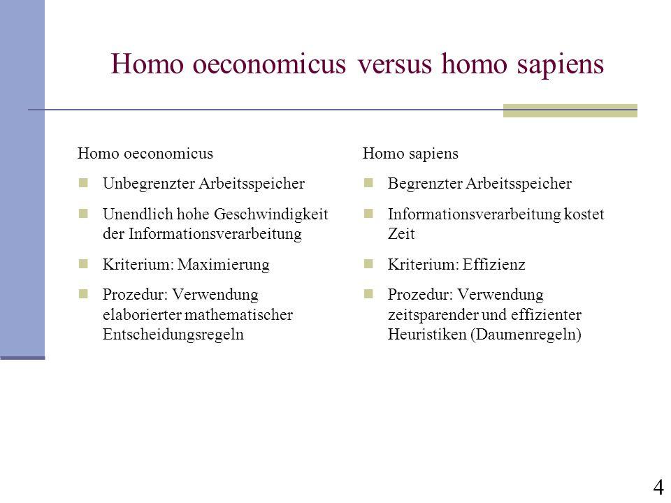 Homo oeconomicus versus homo sapiens