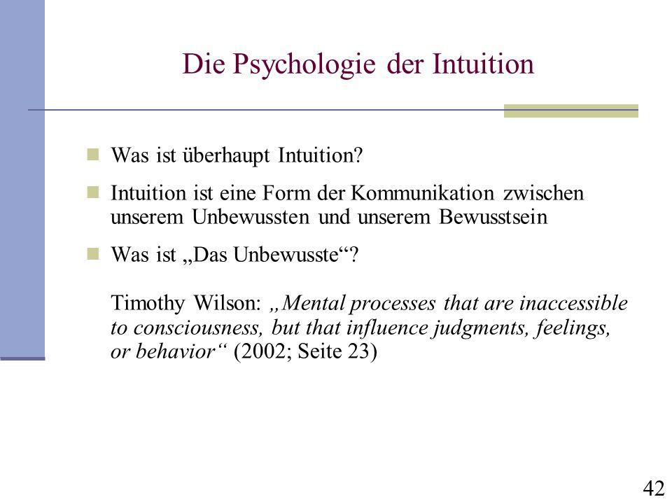 Die Psychologie der Intuition