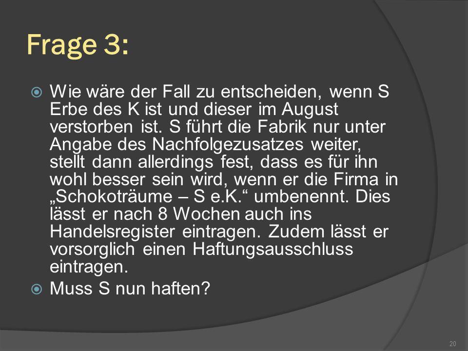 Frage 3: