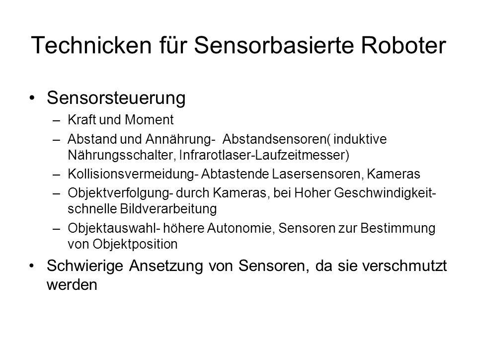 Technicken für Sensorbasierte Roboter