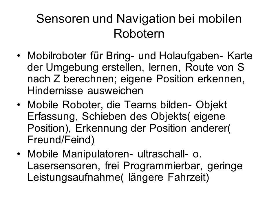 Sensoren und Navigation bei mobilen Robotern