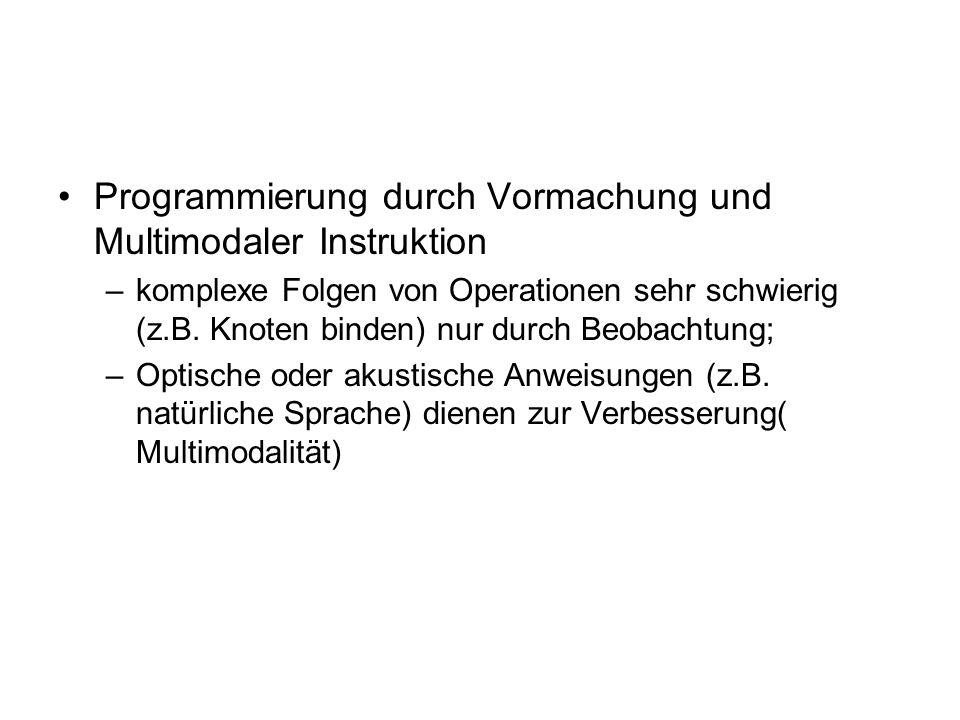 Programmierung durch Vormachung und Multimodaler Instruktion
